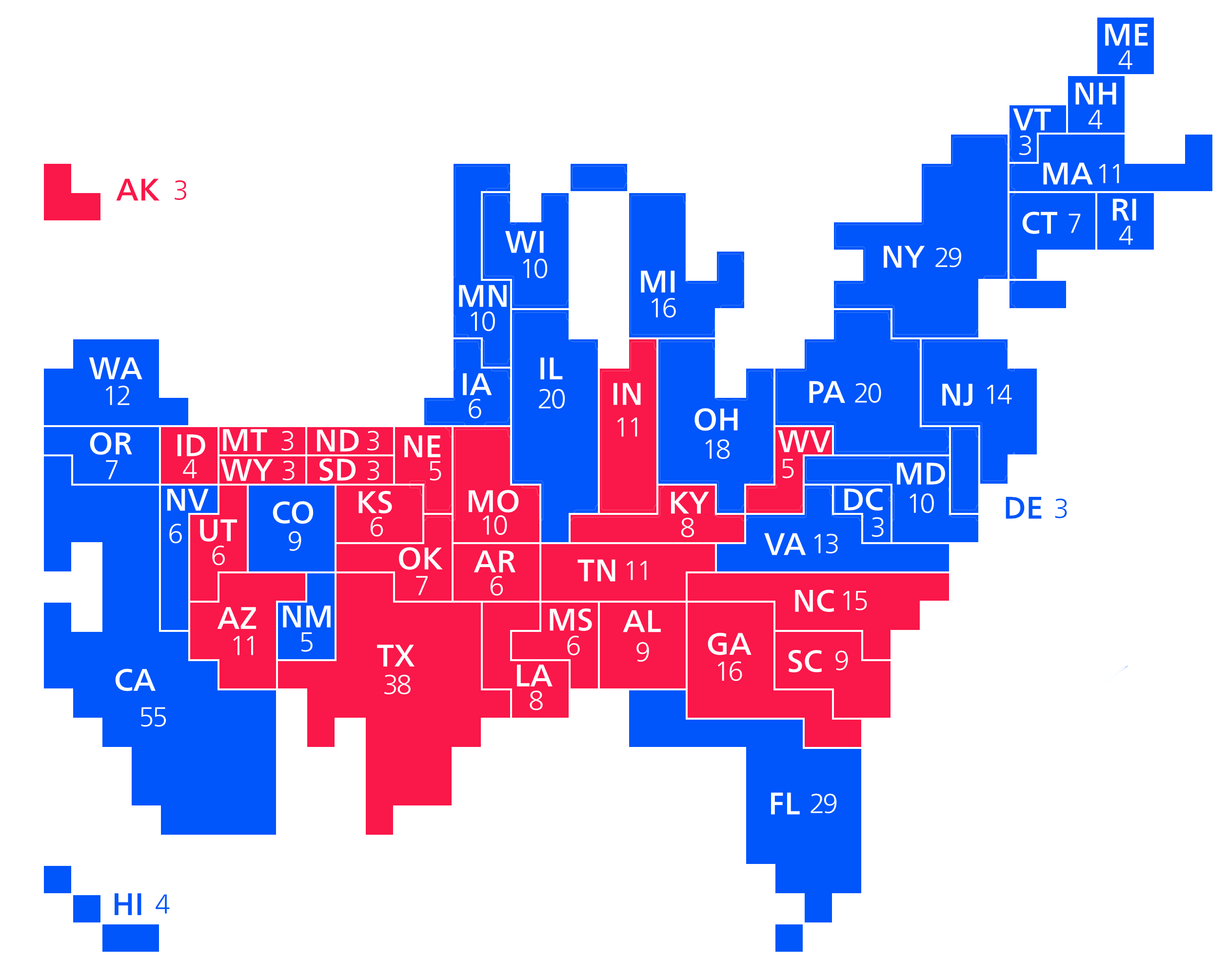 Data Visualization For Social Science - Us elections live results map