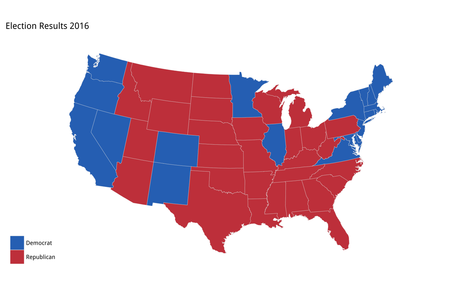 election 2016 by state