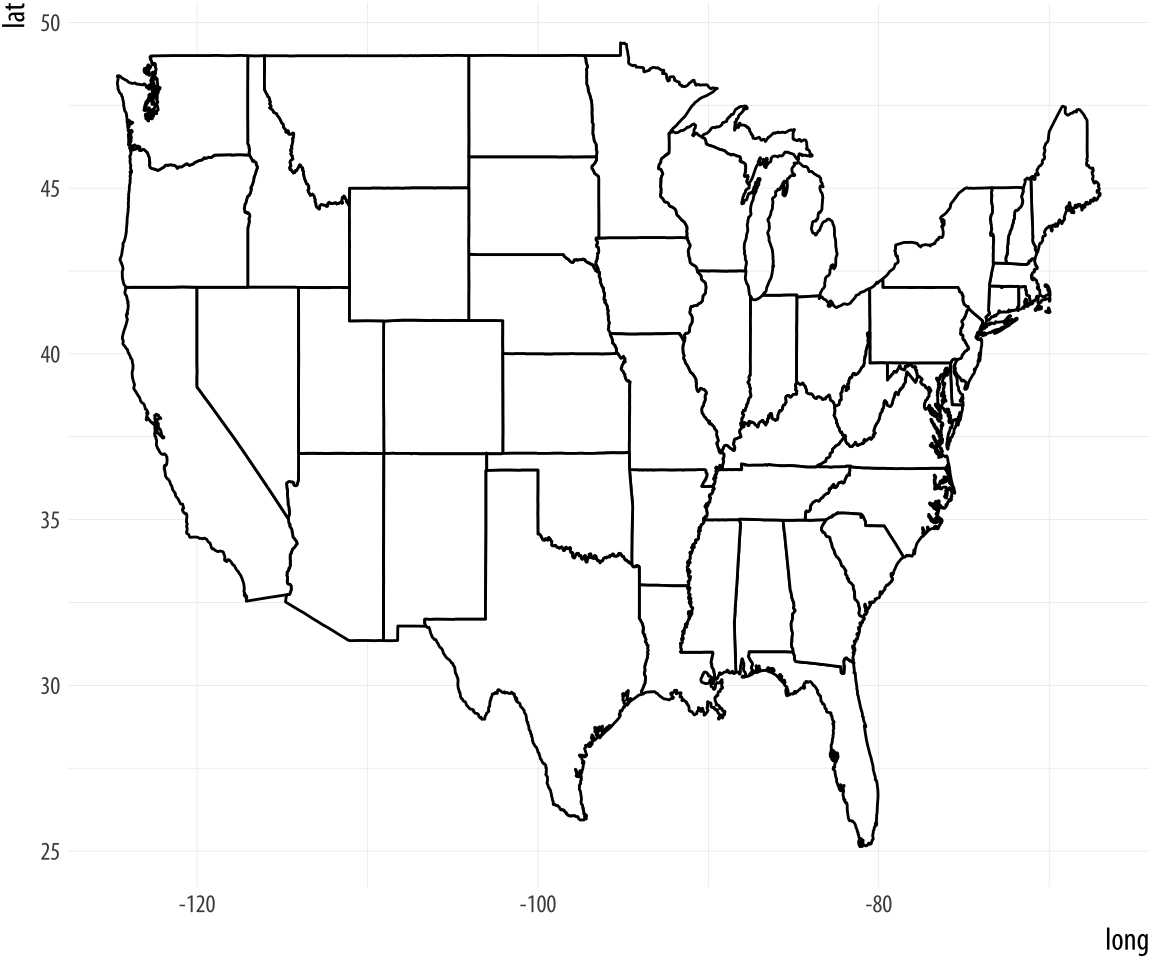 Line Drawing Us Map : Us map line drawing