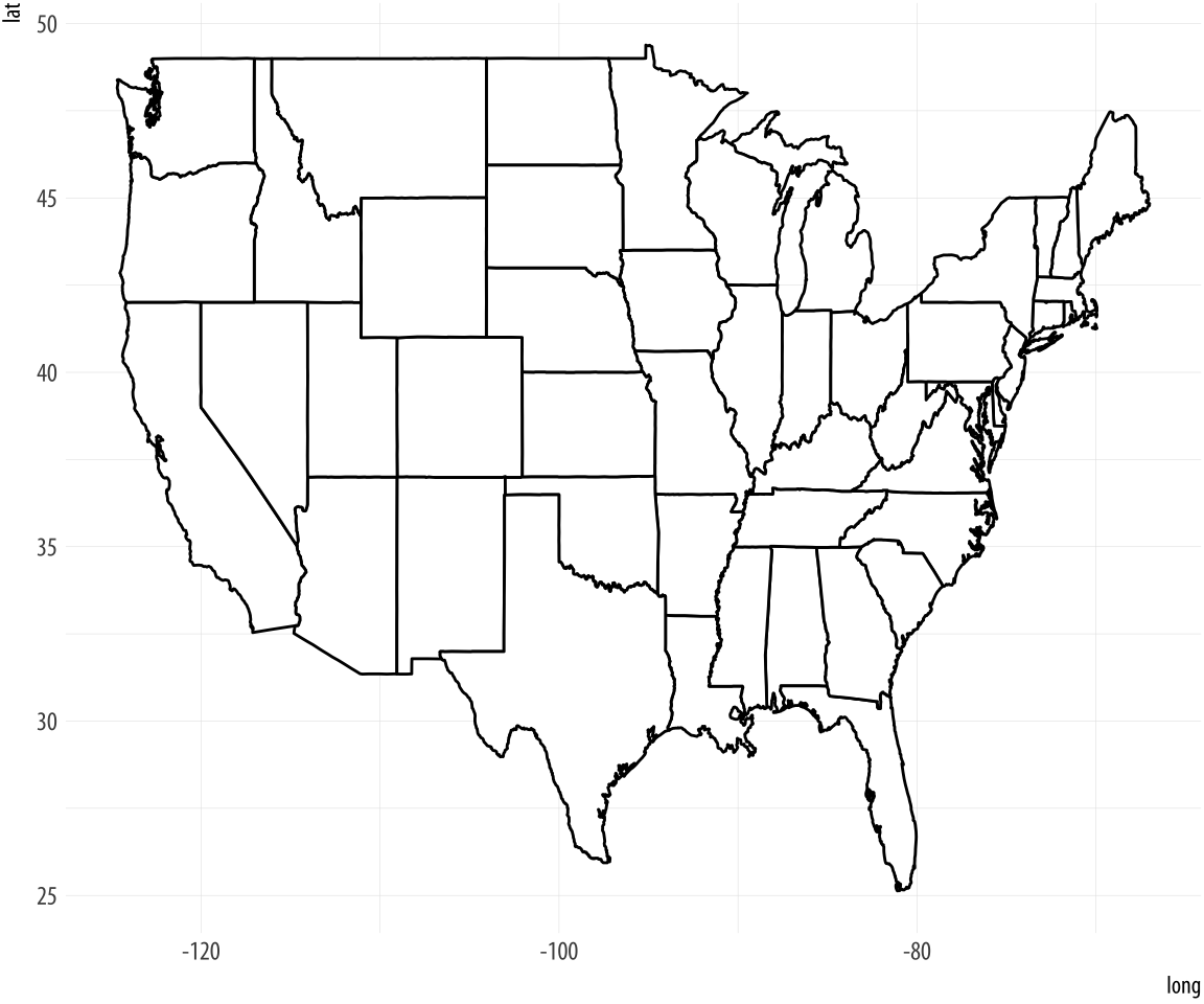 Data Visualization For Social Science - Us map gradient generator