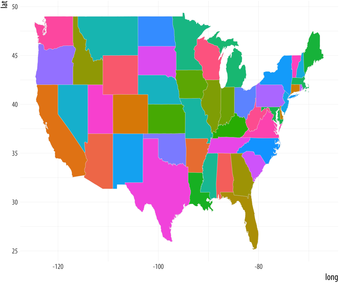 Coloring the states